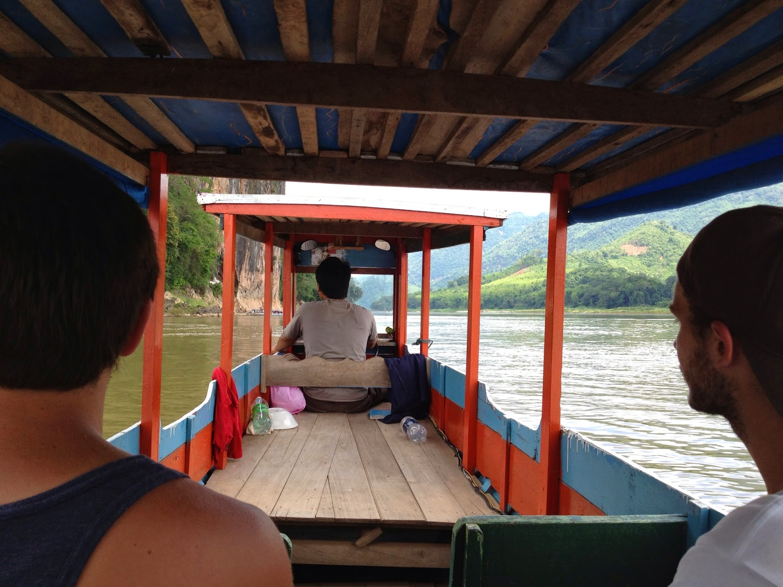 Luang Prabang - Starting our 3 hour boat ride to the Pak Ou Caves
