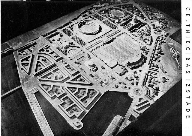 1938 год. Рига. Проект застройки парка Победы/Узварас (бывшего Петровского парка) во времена правления Ульманиса