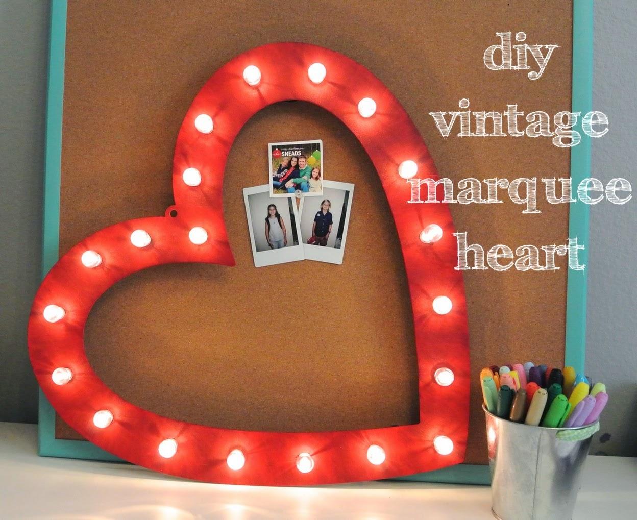 SaSea Decor: DIY Heart Vintage Marquee Letter