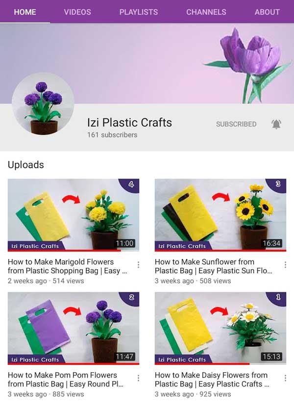 Izi plastic crafts