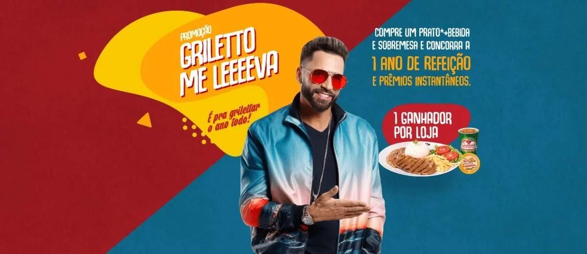 Promoção Griletto 2020 Me Leva 1 Ano Refeição Grátis e Prêmios na Hora - Latino
