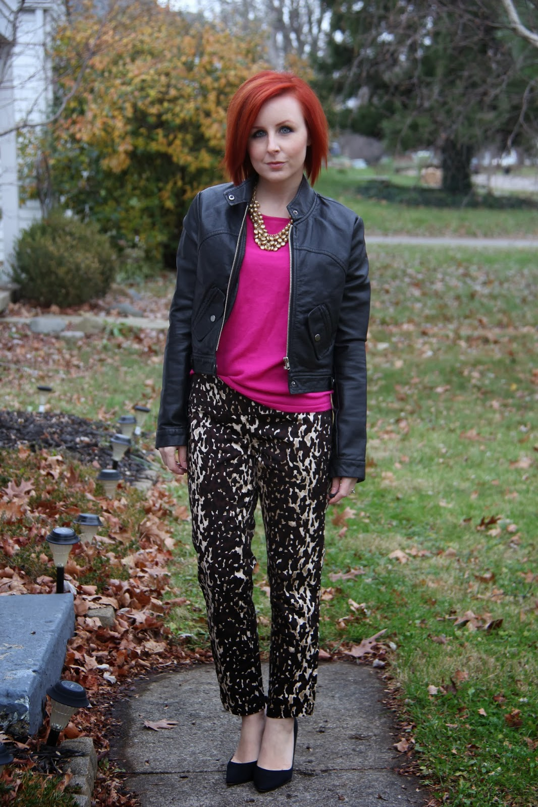 Thrift And Shout: Cute Outfit Of The Day: Leopard Pants