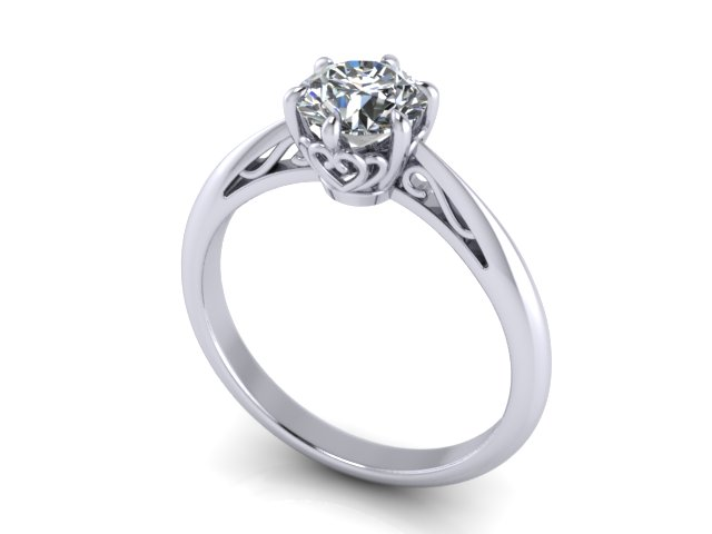 Casey Lai A Customised Solitaire Proposal Ring for Aivin