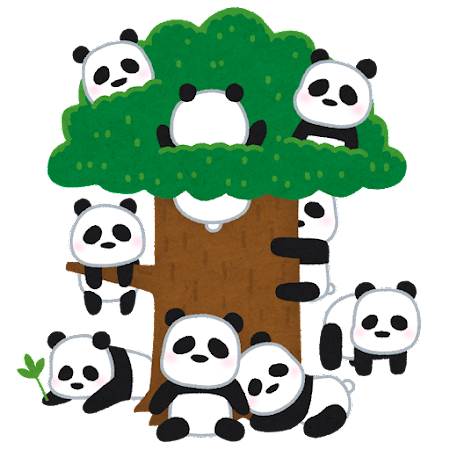 パンダ基地のイラスト
