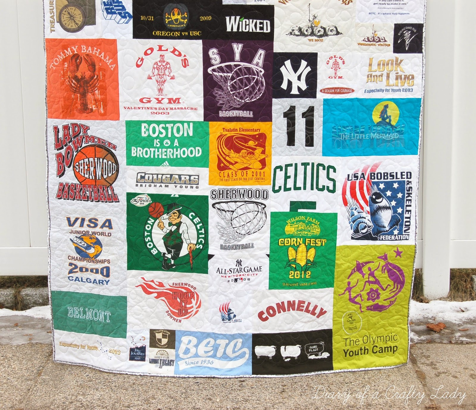 Diary Of A Crafty Lady Making Your Own T Shirt Quilt