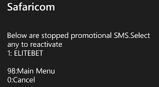 stopped promotional messages