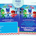 PJ Masks Invitation Printable - FREE!