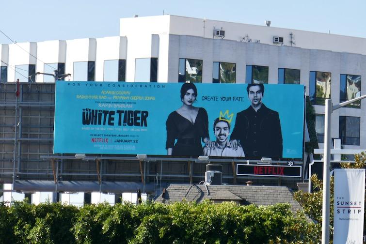 White Tiger film FYC billboard