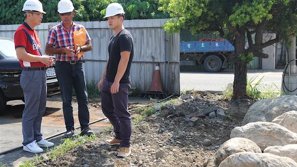 鹿港鎮調解會停車場工程視察 讓市容更加美觀
