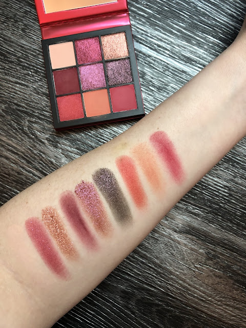 Huda Beauty Obsessions Ruby Palette (Review and Swatches)