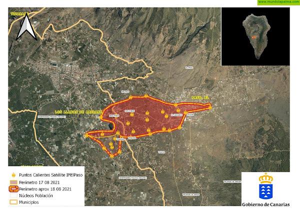 El incendio de La Palma se encuentra bajo control y perimetrado
