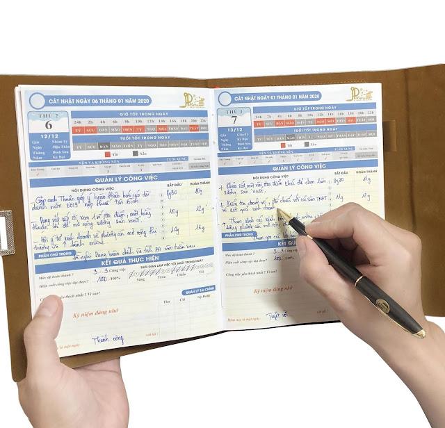 sổ tay quản lý thời gian, sổ tay thông minh