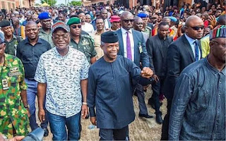 House of Reps Member, Omosede Igbinedion compares VP Mike Pence's visit to Hurricane-ravaged Texas to Osinbajo's red carpet reception in Benue State