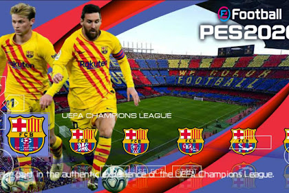 Download Game Efootball Pes 2020 Ppsspp For Android Camera Ps4 NewTransfer Pemain Background Barcelona Fc