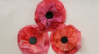 anzac day craft poppies coffee filter