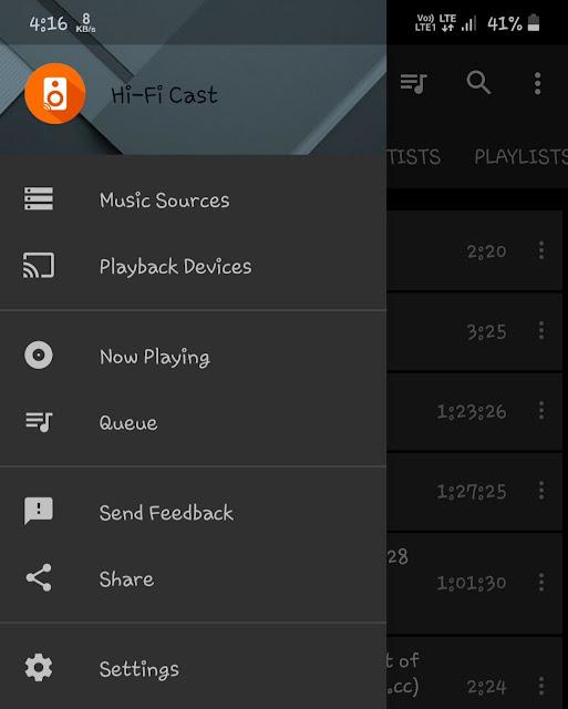 Play music on TV using Hi-Fi Cast app