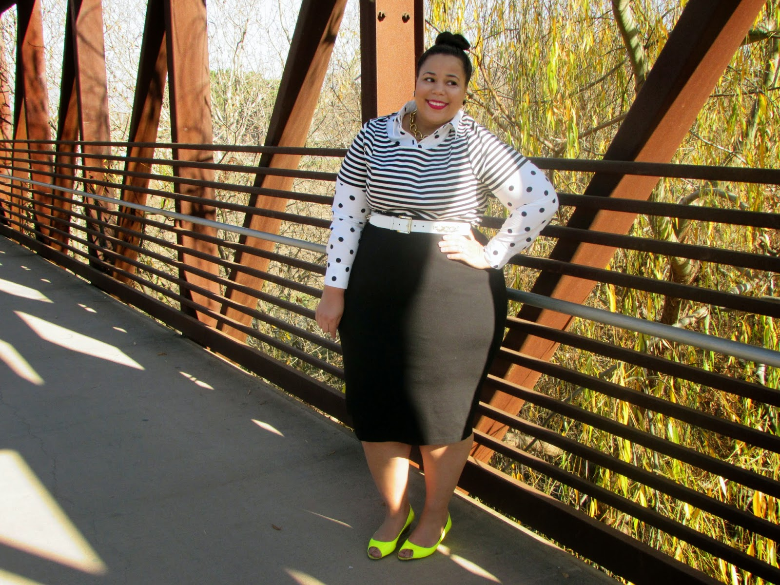 Polka dots, Stripes, Lane Bryant, Wet N Wild Mega Last, Plus size fashion