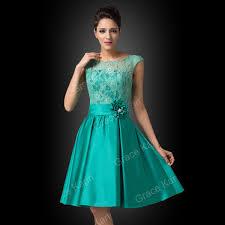 Contoh Dress Pesta Brokat Pendek Modern
