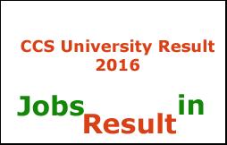 CCS University Result 2016