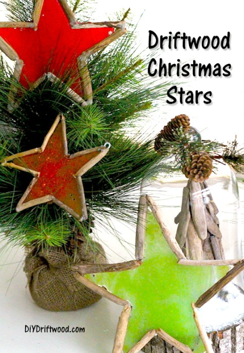 Star Candy Ornaments with Driftwood