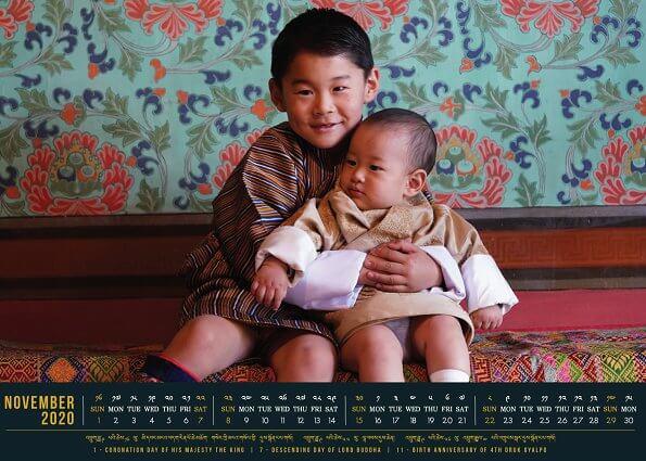 King Jigme Khesar Namgyel Wangchuck, Queen Jetsun Pema Wangchuck, Jigme Namgyel Wangchuck and Jigme Ugyen Wangchuck