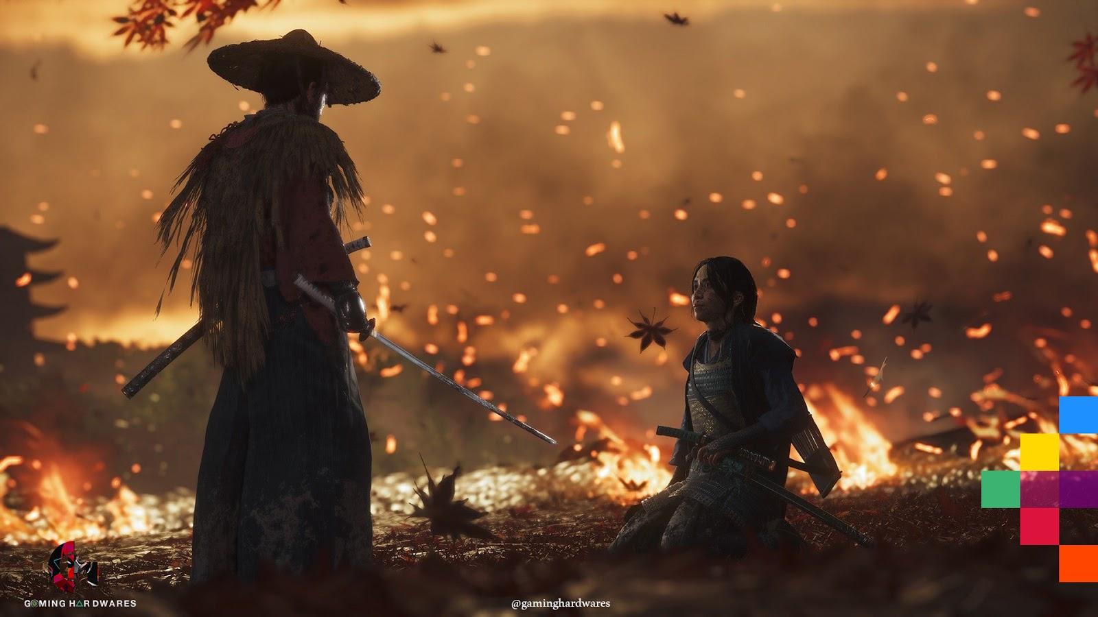 شبح تسوشيما يتحدث خلال المعركة