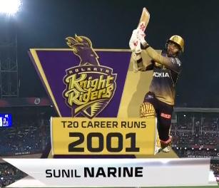 Sunil Narine 2000 IPL Runs