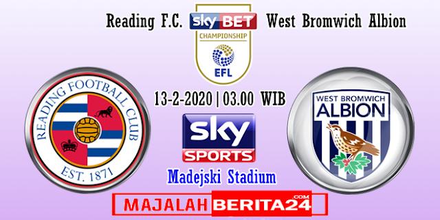 Prediksi Reading Vs West Bromwich Albion
