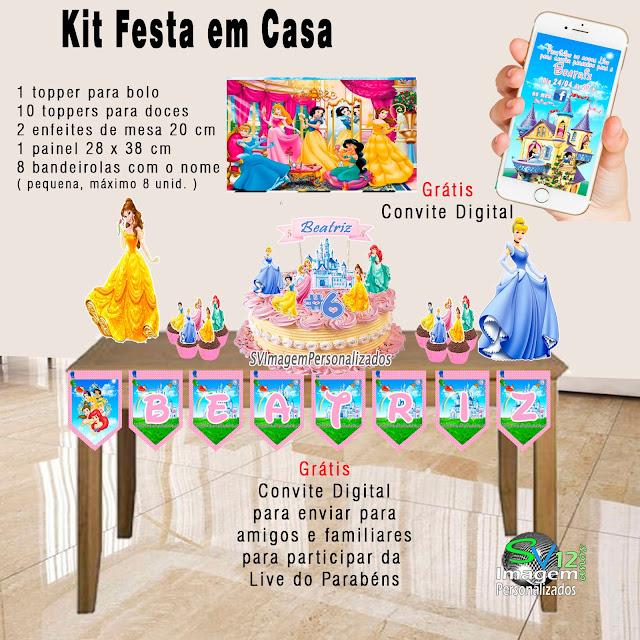 As Princesas  Disney dicas e ideias para decoração de festa personalizados