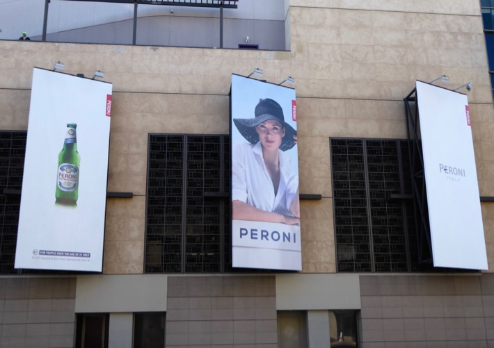 Peroni beer sun hat January 2016 billboards