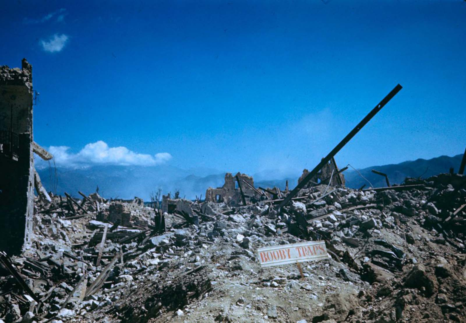 Ruins in the Rapido Valley, 1944.