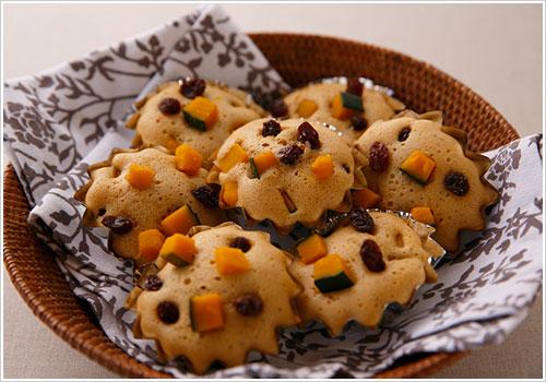 黒糖とかぼちゃの蒸しパン