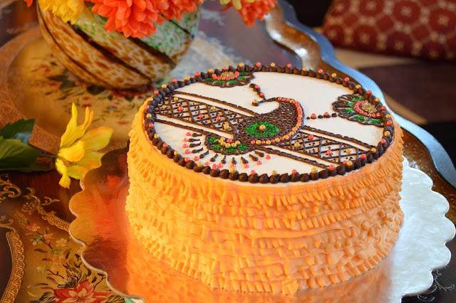 Cake For Mehndi Ceremony : Sara writes: when desi calls ~ henna ruffle cake