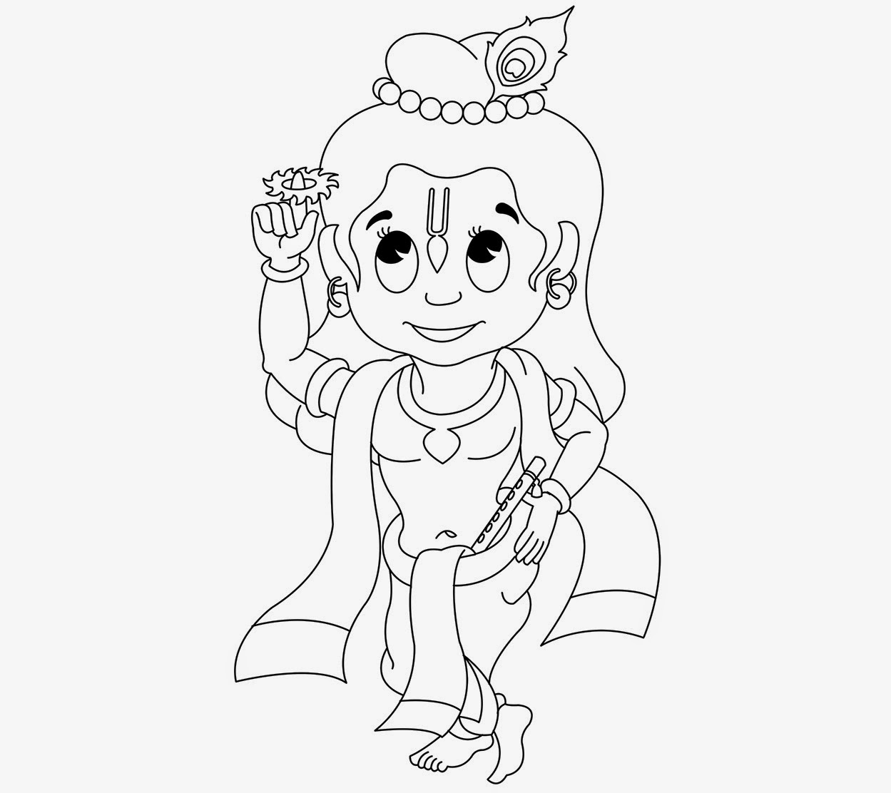 Colour Drawing Free HD Wallpapers: Little Krishna For Kid