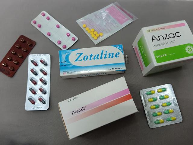 ยาคลายเครียด, ยาต้านซึมเศร้า, ยาต้านอาการวิตกกังวล, ยาอาการตื่นตระหนกหรือแพนิค