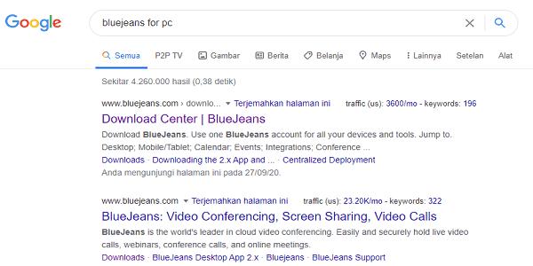 cara mendownload aplikasi bluejeans di laptop