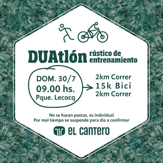 Duatlon rústico gratuito de El Cantero y Diego Imperial en parque Lecocq (Montevideo, 30/jul/2017)