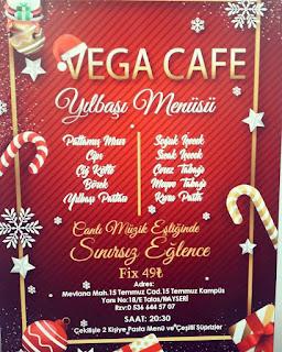 Vega Cafe Kayseri Yılbaş Programı 2020 Menüsü