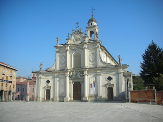 The Church of Sant'Ambrogio on Piazza Gramsci in Cinisello