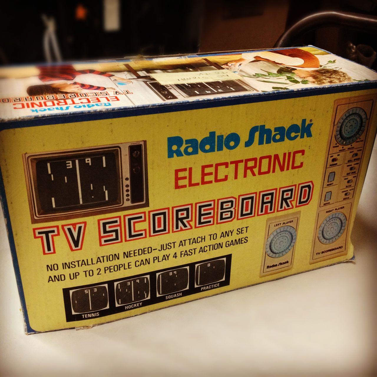 Radio Shack Stores: Tales From The Junk Store: Radio Shack TV Scoreboard