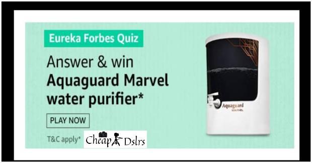 Aquaguard Marvel Water Purifier Amazon Quiz
