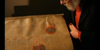 Researcher study the devil bible