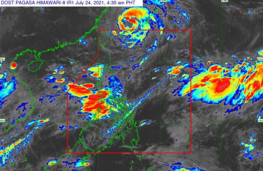 Satellite image of Typhoon 'Fabian'
