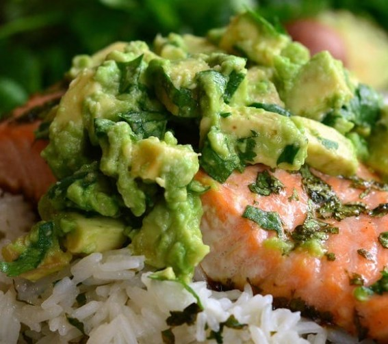 Avocado Salmon Rice Bowl | Easy Dinner Recipe | Main Dish Recipe #salmon #dinner #maindish #healthydinner #dinnerrecipe