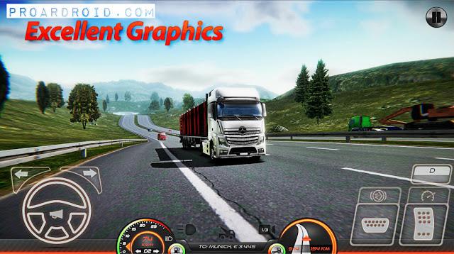 Truck Simulator : Europe 2 مهكرة