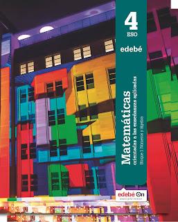 Libro Matemáticas Aplicadas 4º ESO Edebé Proyecto Edebé On (LOMCE)