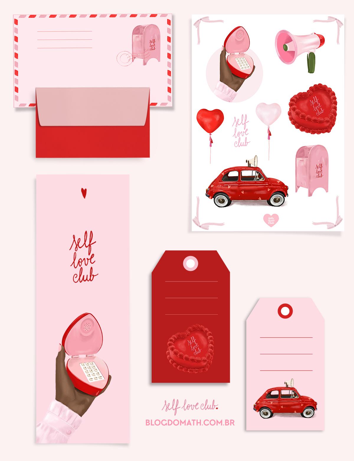 papel de carta de amor vintage decorado dia dos namorados para imprimir - presente dia dos namorados 2020 quarentena - blog do math