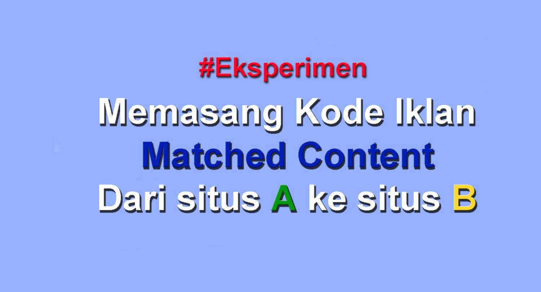 Eksperimen Adsense Ad