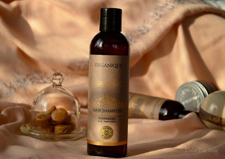 Rytuał Kaszmirowy Organique  - Szampon do włosów słodkim karmelem pachnący!