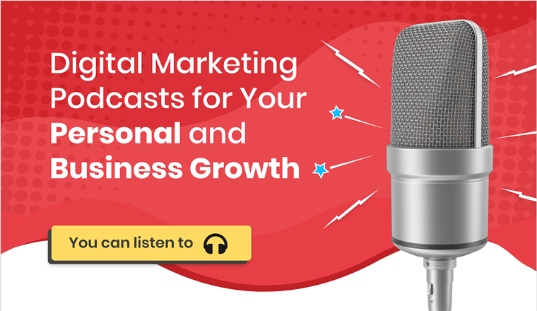Digital Marketing Podcasts for Your Personal and Business Growth #infographic